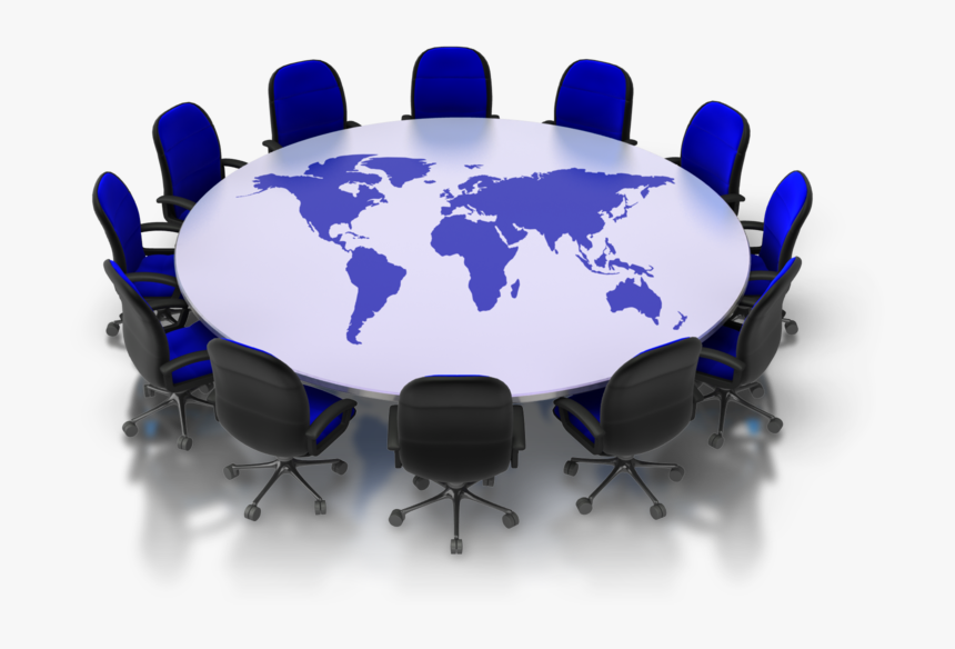 Conference Clipart Round Table Meeting - Eagleburgmann World Map, HD Png  Download - kindpng