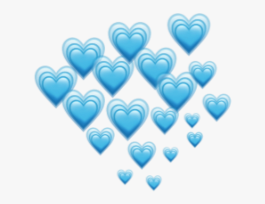 Blue Hearts Heart Emoji Emojis Freetoedit Remixit - Blue Heart Emojis Png, Transparent Png, Free Download