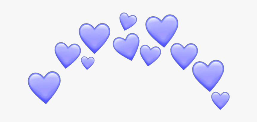#blue #purple #hearts #heart #sticker #emoji #emojis - Transparent Pink Heart Crown, HD Png Download, Free Download