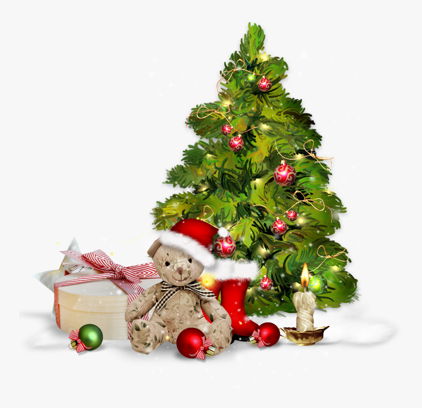Transparent Christmas Tree With Presents Clipart - Christmas Tree Presentspng, Png Download, Free Download