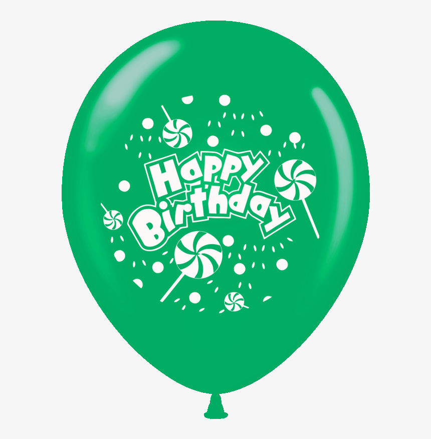 Green Balloons Color Happy Birthday, HD Png Download, Free Download