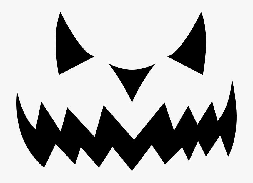 Jack O Lantern Silhouette - Jack O Lantern Faces Clipart, HD Png Download, Free Download