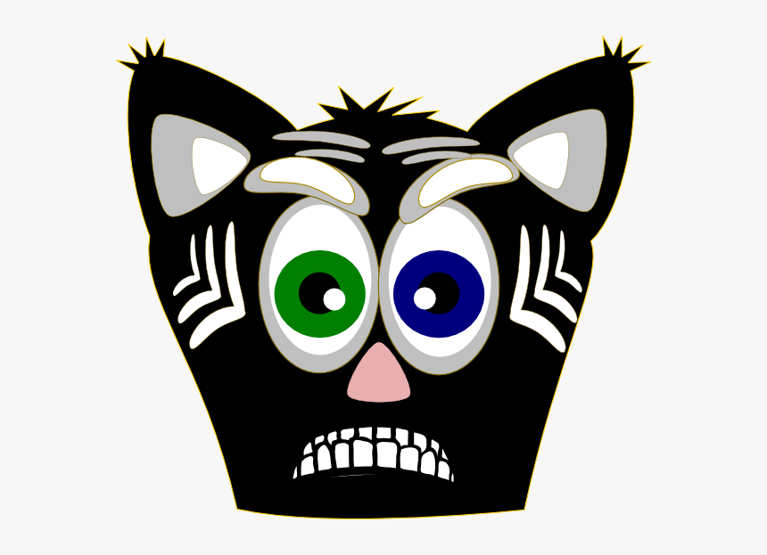 Hahaha Evil Cat Ahhhhhhh 1 Clip Art At Clker - Gambar Muka Kucing Animasi, HD Png Download, Free Download