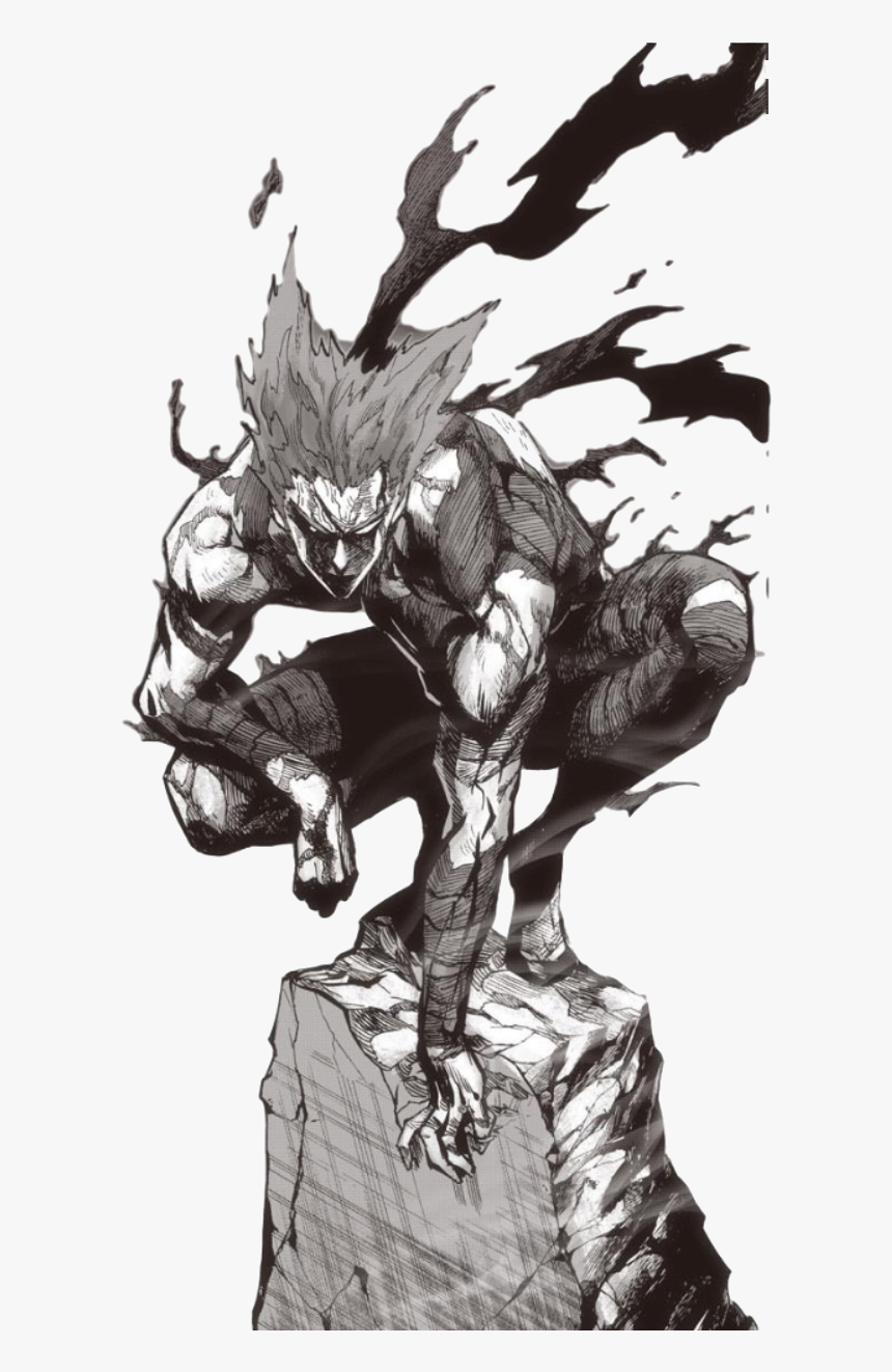 Garouartwork Octet Stream Garou One Punch Man Drawing Hd Png Download Kindpng