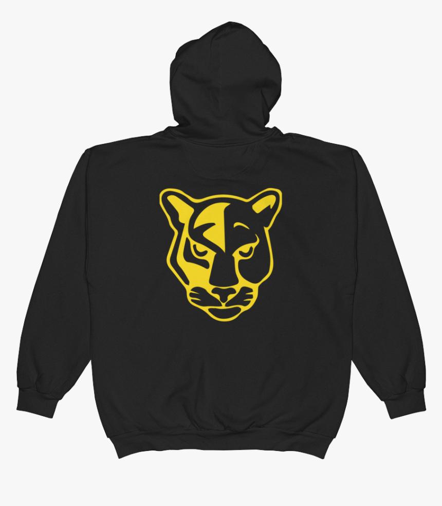 Panther Logo Straight Printfile Back Printfile Front - Skull And Bones Zip Hoodie, HD Png Download, Free Download