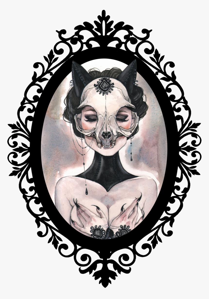 Vintage Mirror Frame Clip Art Png Download Welcome Foolish Mortals Svg Transparent Png Kindpng
