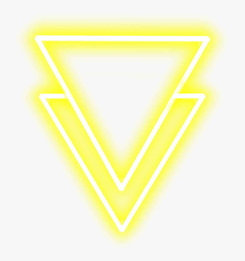 #neon #triangle #yellowneon #neonlights #streetlight - Neon Background Yellow Aesthetic, HD Png Download, Free Download