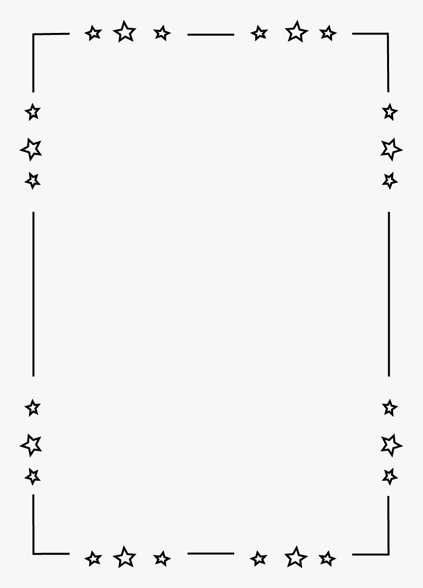 Doubl Toiles Site Mycutegraphics - Star Border Black And White, HD Png Download, Free Download