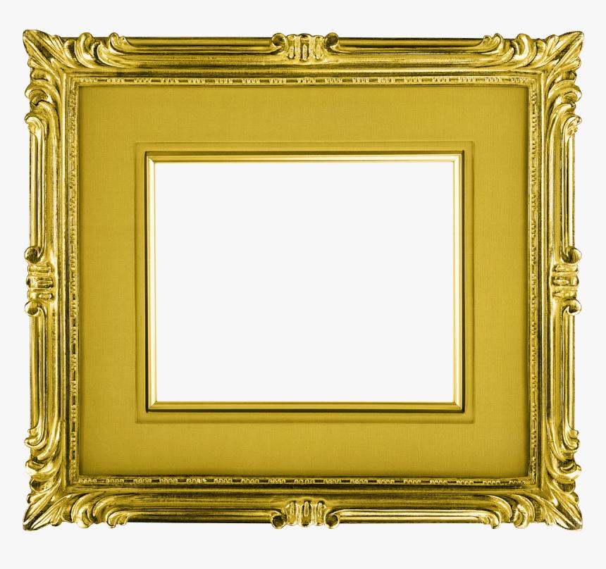 Golden Frame Png - Transparent Gold Photo Frame, Png Download, Free Download