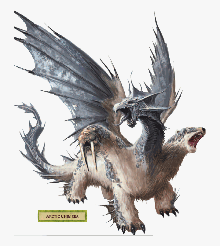 Transparent Chimera Clipart - Dungeons And Dragons Chimera, HD Png Download, Free Download