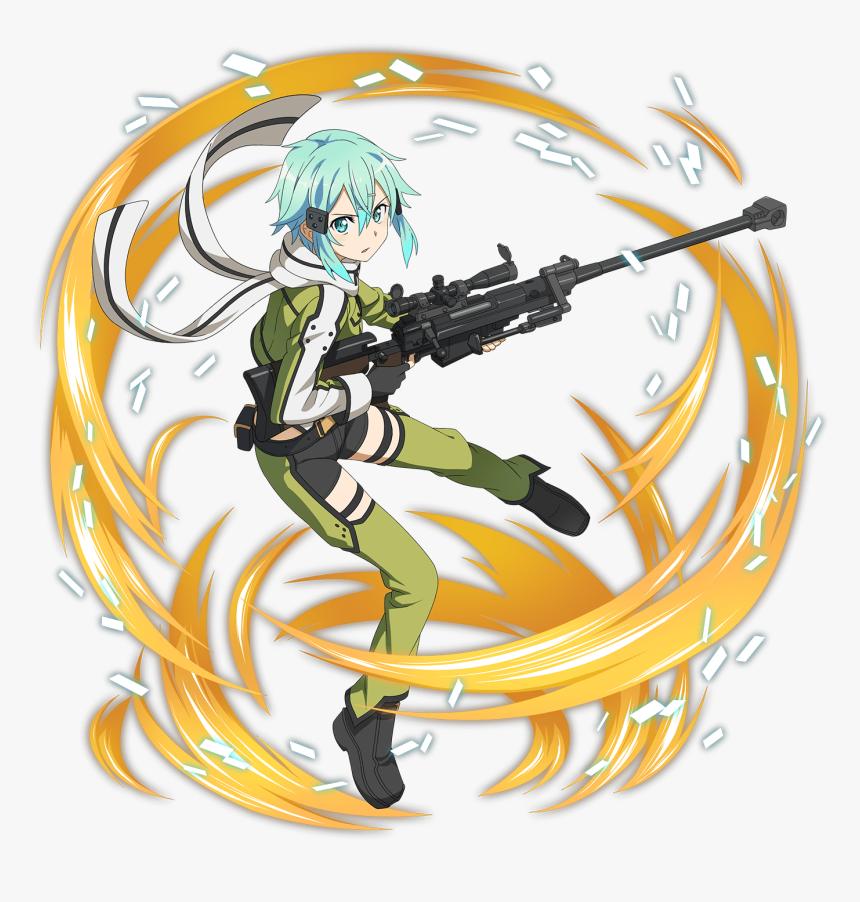 [sniper In Love] Sinon Online S, Gun Gale Online, Online - Sao Memory Defrag Sinon, HD Png Download, Free Download