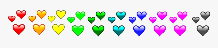 #colourful #hearts #rainbow #divider #header #textline, HD Png Download, Free Download