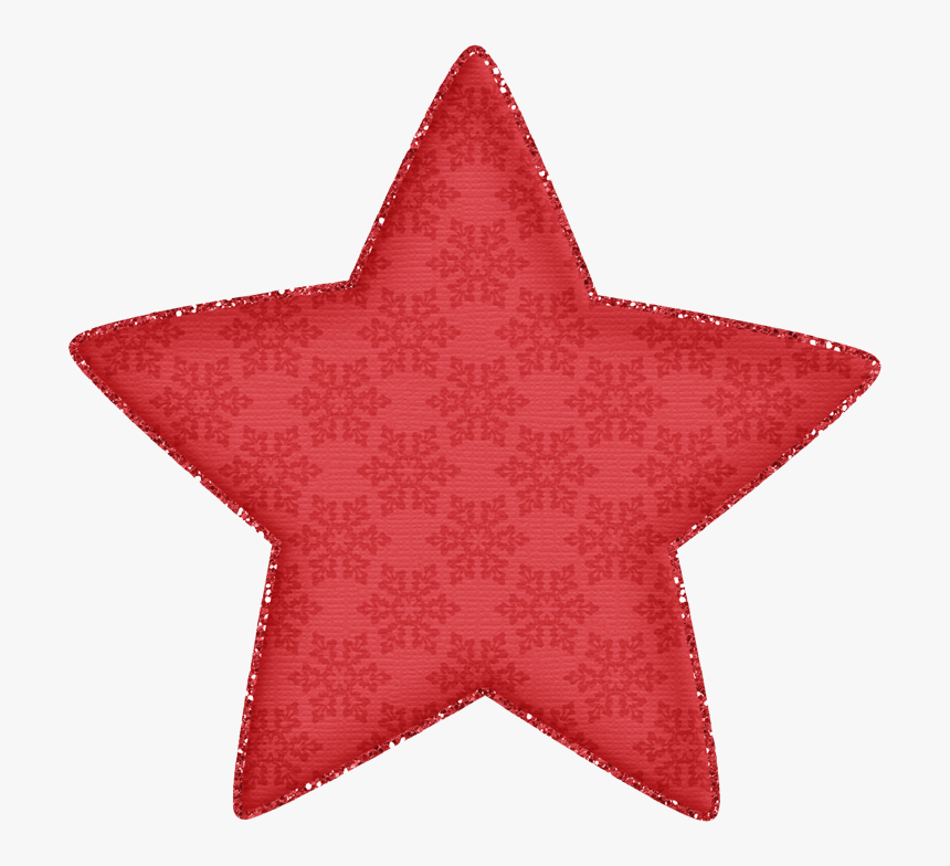 Red Christmas Star Clip Art, HD Png Download, Free Download