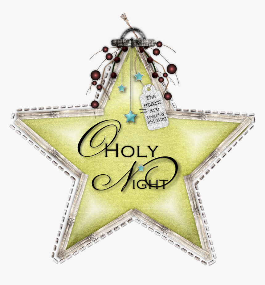 O Holy Night Christmas Star Freebie Enjoy And Merry - Christmas Day, HD Png Download, Free Download