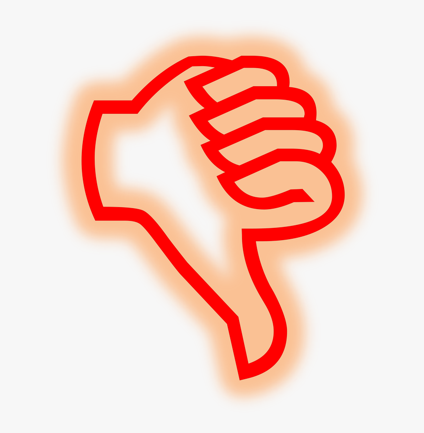 Thumb Red Transparent Free Photo - Clipart Thumbs Down Gif, HD Png Download, Free Download