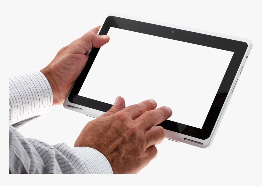 Hand Holding Tablet Png, Transparent Png, Free Download