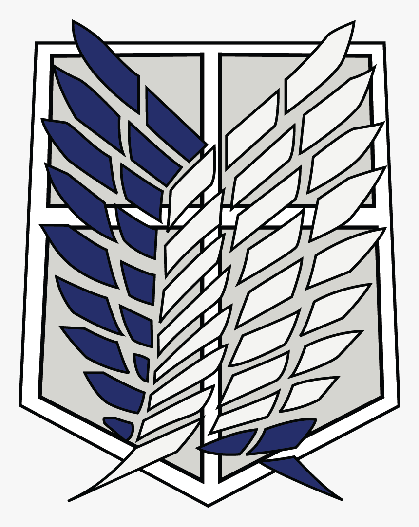 Survey Corps/scout Regiment/scout Legion - Attack On Titan Logo Png, Transparent Png, Free Download