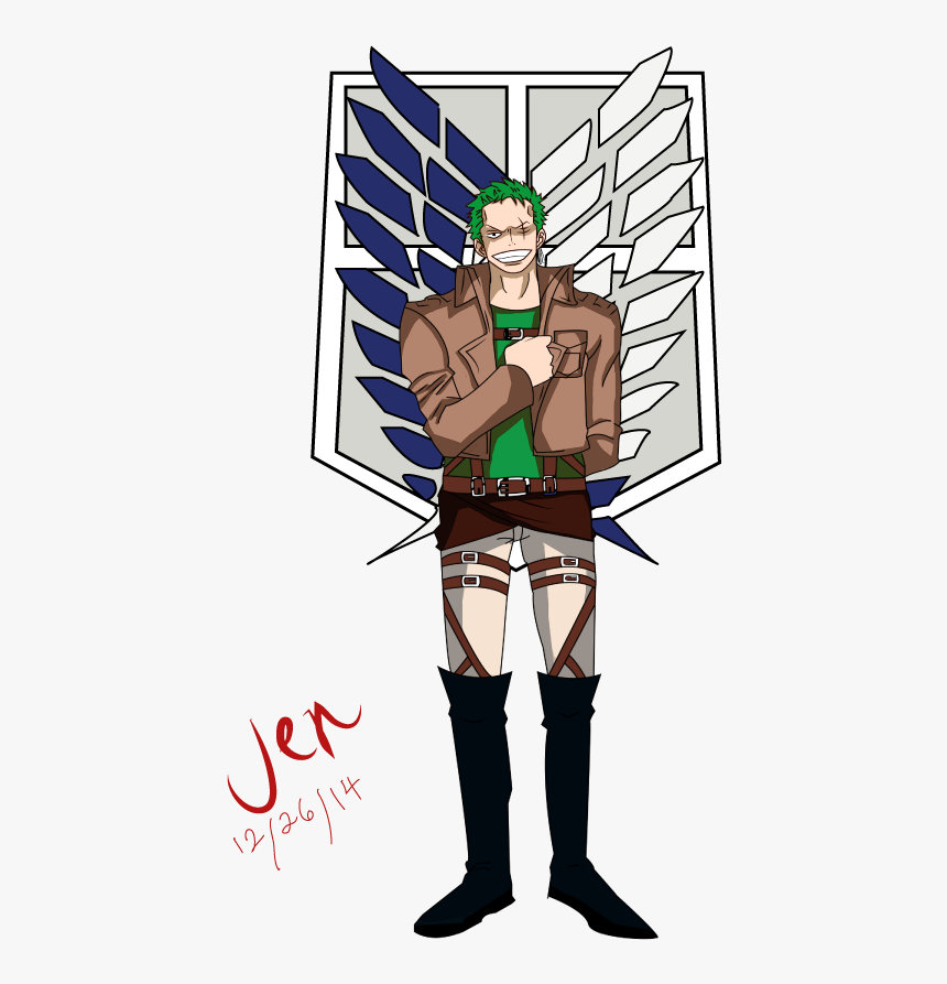 Zoro As A Member Of The Survey Corps - Survey Corps Attack On Titan, HD Png Download, Free Download