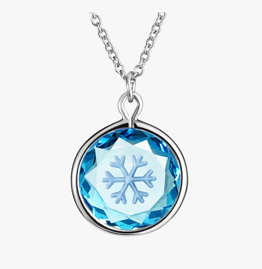 Snow Flake In Swarovski Blue Crystal With Silver Enamel - Pendant, HD Png Download, Free Download