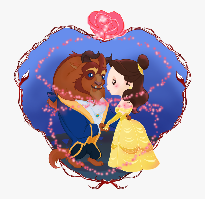 Beauty And The Beast - Cute Beauty And The Beast Drawing, HD Png Download, Free Download