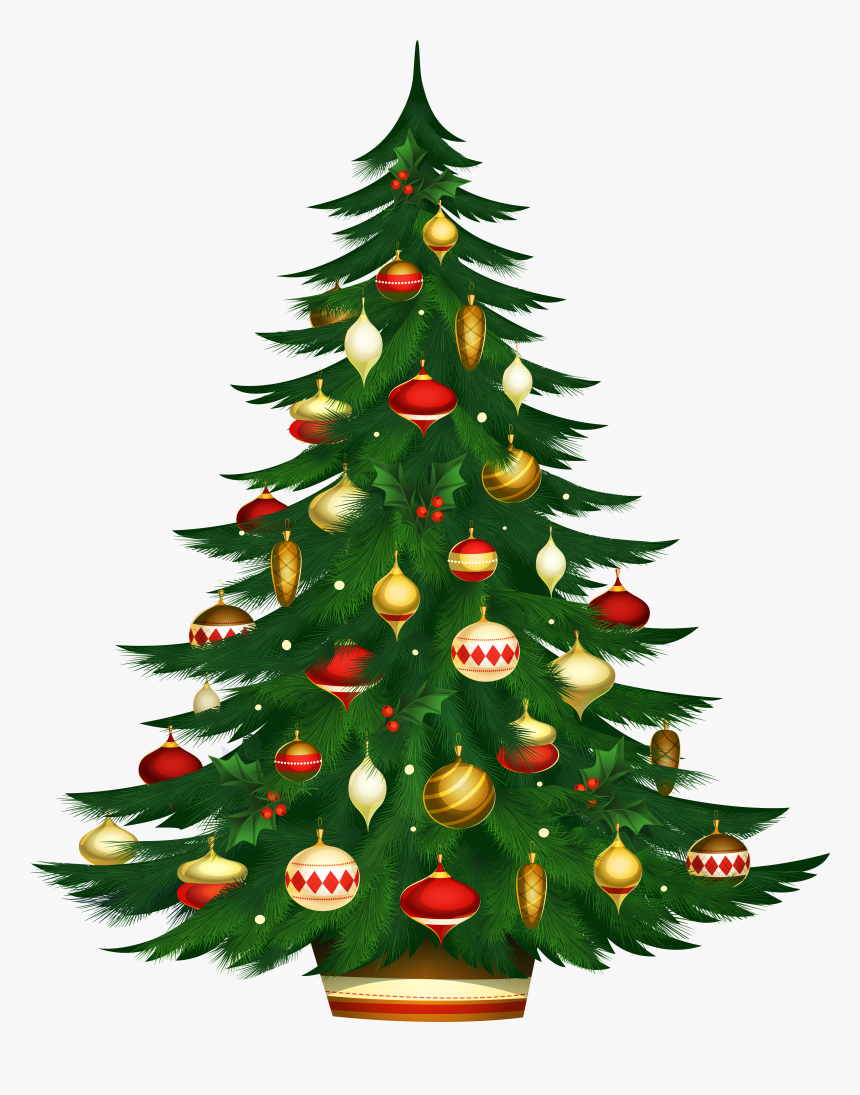 Christmas Poted Tree Png Clipart - Christmas Tree Images Download, Transparent Png, Free Download