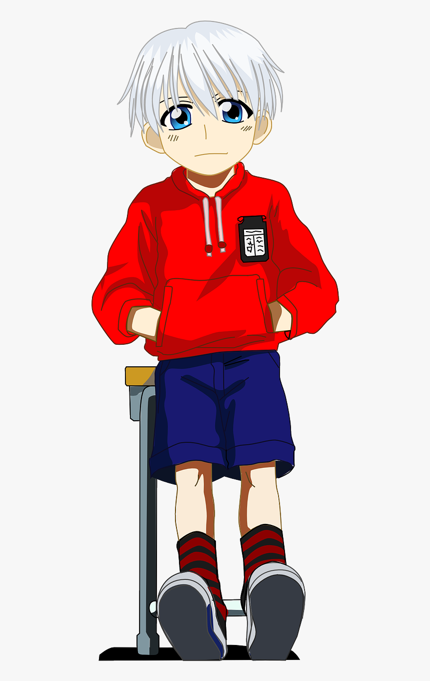 Anime School Boy Png, Transparent Png, Free Download