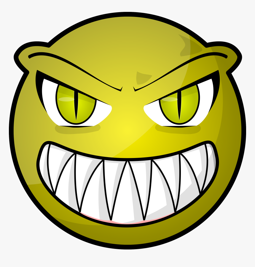 Art,symbol,fictional Character - Scary Monster Cartoon Face, HD Png Download, Free Download
