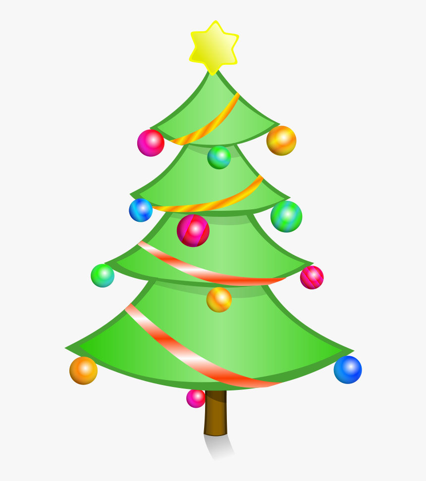 Christmas Tree Clipart Free Holiday Graphics - Clipart Simple Christmas Tree, HD Png Download, Free Download