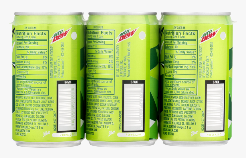 Mini Mountain Dew Cans, HD Png Download, Free Download