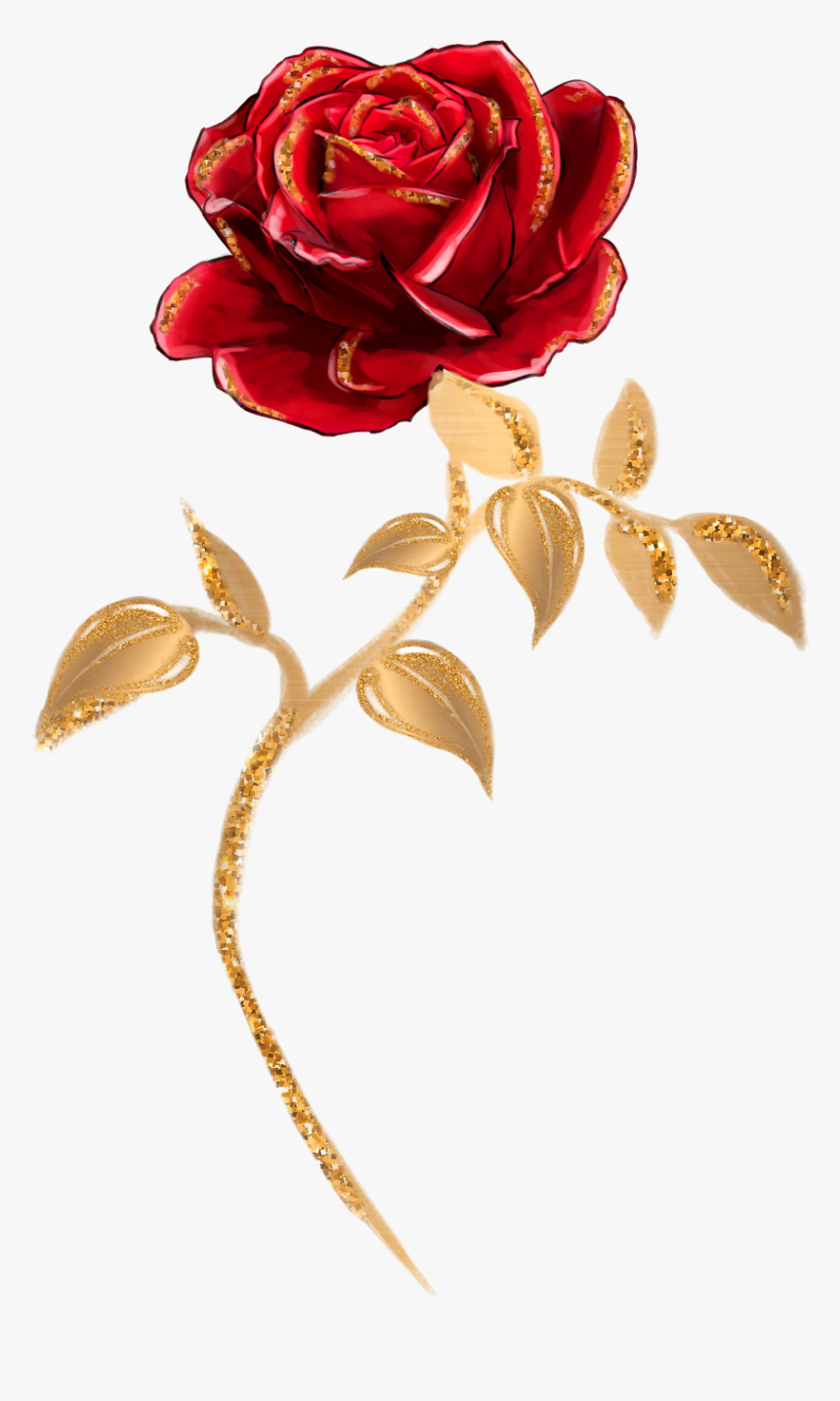 Beauty Single Rose - Beauty And The Beast Single Rose, HD Png Download, Free Download