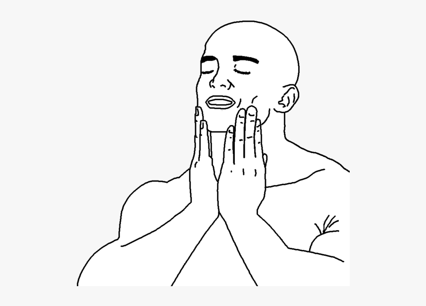Line Art Face White Woman Facial Expression Person - Feels Good Man Png, Transparent Png, Free Download