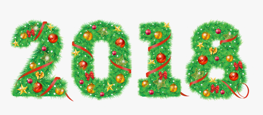 """New Year""""s Eve, 2018, Ball, Tape, Christmas Tree - Hd 2018 On Christmas Ornament Transparent Background, HD Png Download, Free Download"""