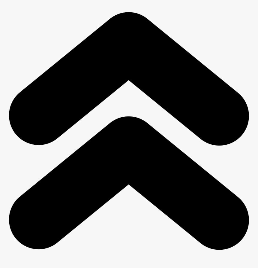 Double Arrow Png -up Arrow Transparent Images - Double Up Arrow Icon, Png Download, Free Download