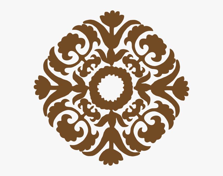 Brown Diamond Flower Svg Clip Arts - Islamic Design Png, Transparent Png, Free Download