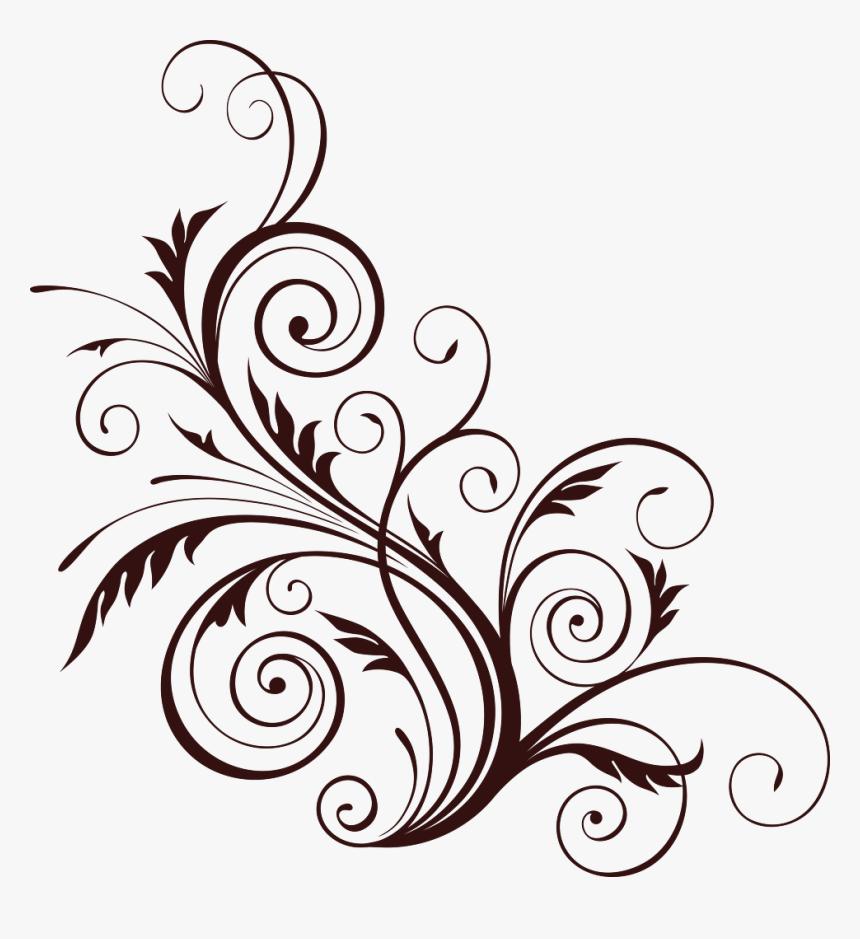 Brown Floral Png Template - Flower Design Pattern Png, Transparent Png, Free Download