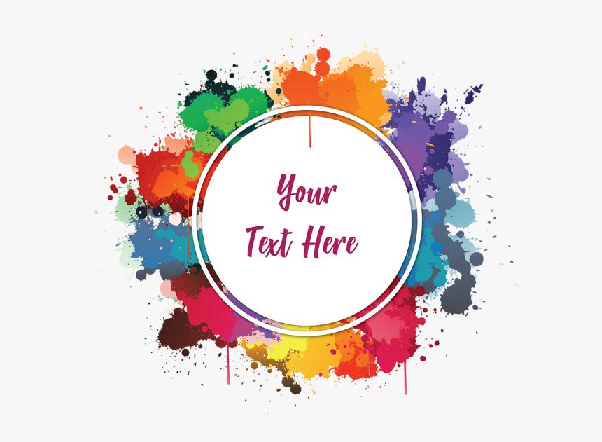 Colourful Watercolor Ink Frame - Paint Splatter Png Frame, Transparent Png, Free Download