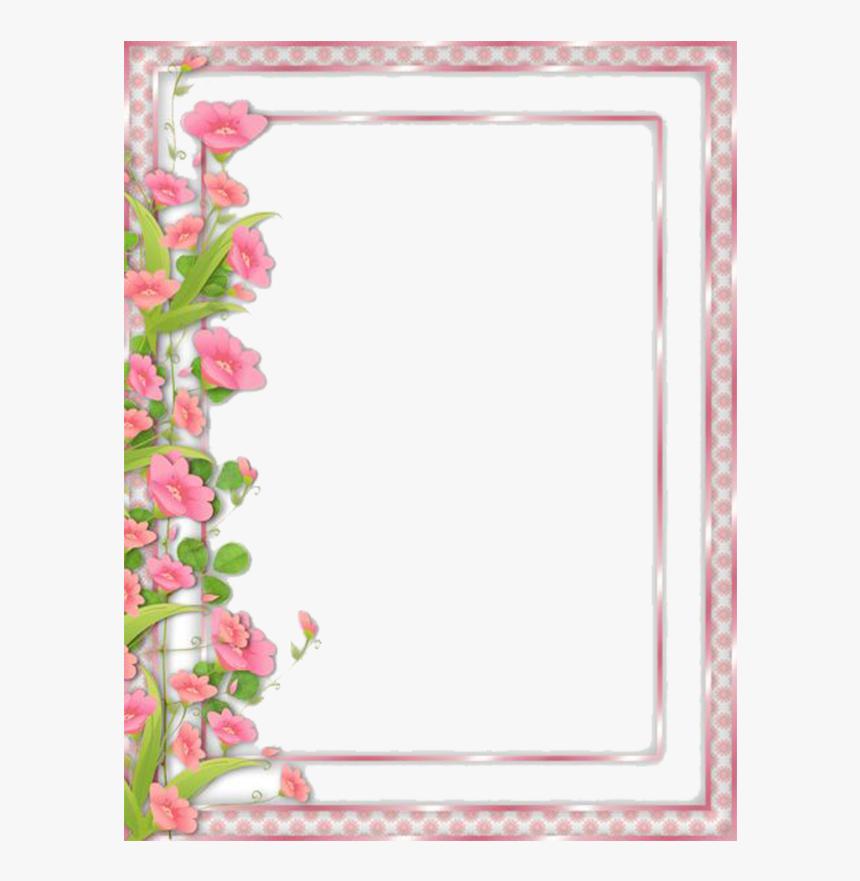 Flower Frame Clipart Flowers Frame Border Png Transparent Png