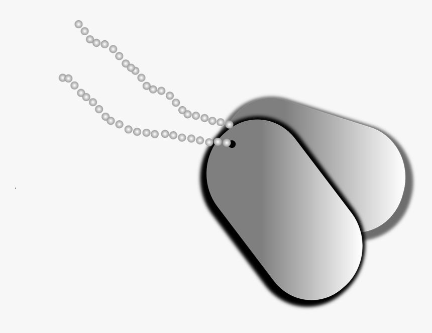 Dog Tag Puppy Military United States Army - Army Dog Tags Illustration, HD Png Download, Free Download