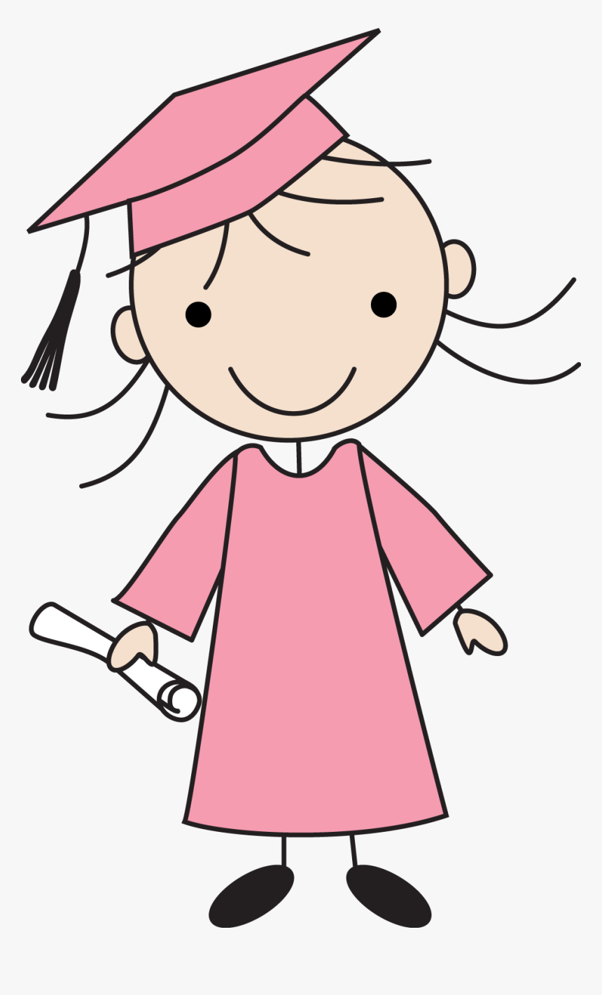Transparent Girl Stick Figure Png - Kids Drawings Of Graduation, Png Download, Free Download