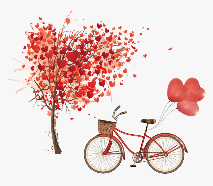 Euclidean Vector Heart Tree - Heart Tree Painting Png, Transparent Png, Free Download