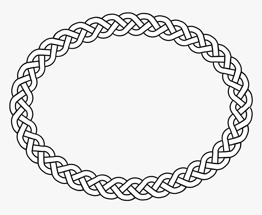 3 Plait Border Oval Medium 600pixel Clipart Vector Celtic Knot Circle Hd Png Download Kindpng