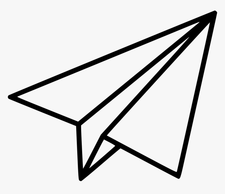 Black Shape Paper Plane Paper Airplane Clipart Png Transparent Png Kindpng