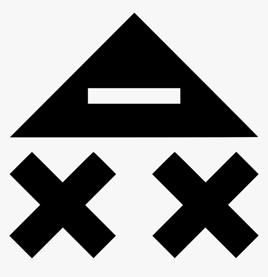 X Triangle Up Upload Abstract - Triangle, HD Png Download, Free Download