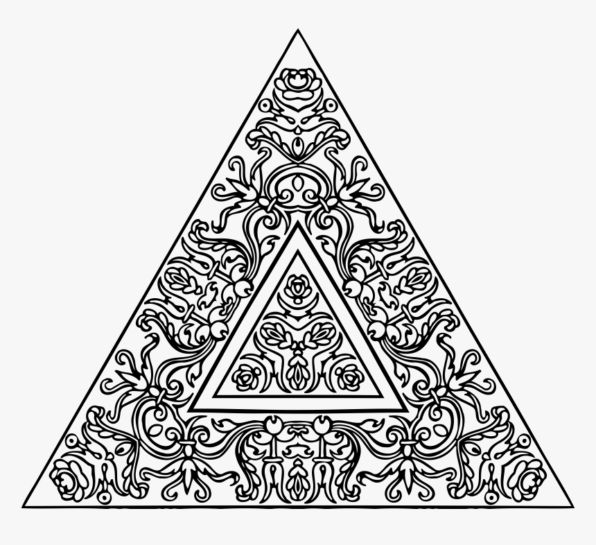 Abstract Big Image Png - Triangle Abstract Design Black And White, Transparent Png, Free Download
