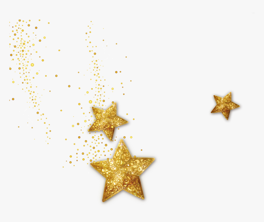 Graphic Star Gold Decoration Computer Design File Clipart - Sparkle Gold Star Png, Transparent Png, Free Download