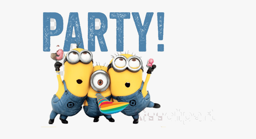 Minion Birthday Cartoon Minions Free Cliparts On Transparent - Minions Party Png, Png Download, Free Download