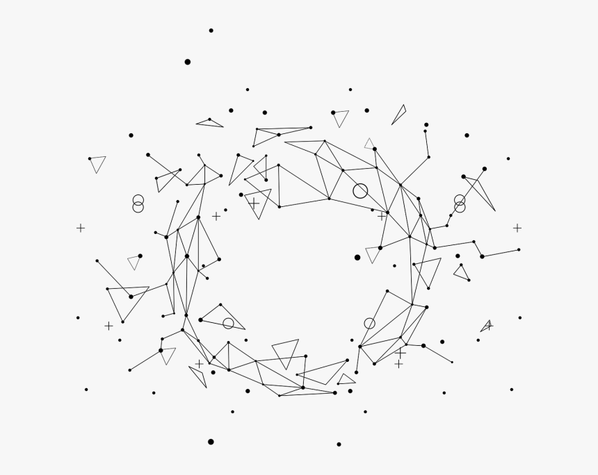 Abstract Geometric Line With Triangle And Dot Vector - Abstract Geometric Lines Png, Transparent Png, Free Download