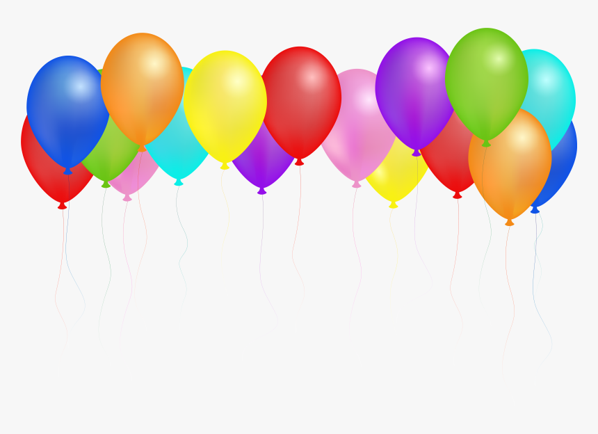 Clipart Royalty Free Library Balloons Svg Seven - Happy Birthday Balloons Images Png, Transparent Png, Free Download