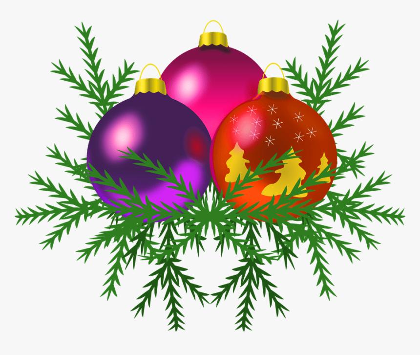 Christmas Baubles On Tree Transparent Background Christmas Free Clip Art Christmas Ornament Hd Png Download Kindpng