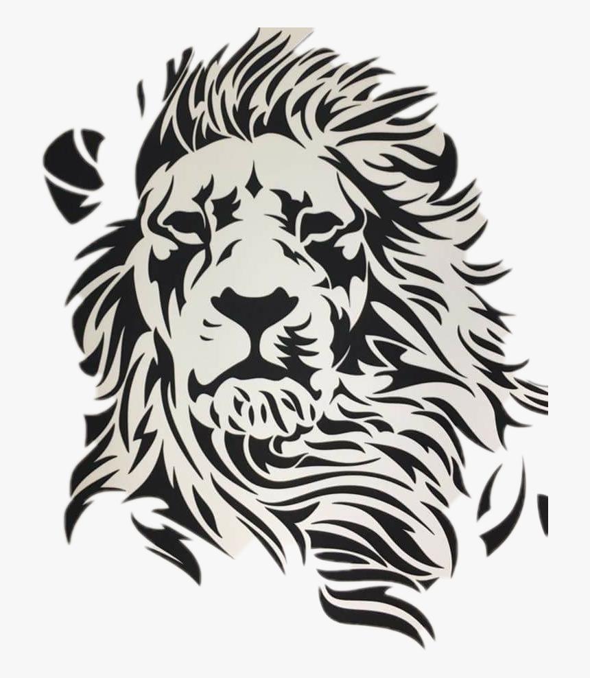 Transparent Lion Clipart Black And White Drawing 3d A Lion Hd